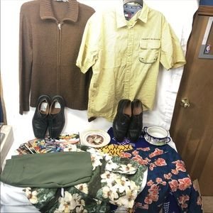 Assorted Items-Shoes, Pants, Dishes, Shirts MORE!